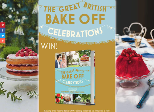 Landing page for the Great British Bake Off