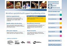 British Association of Performing Arts Medicine website