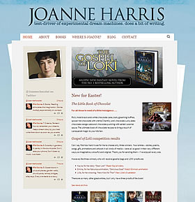 Joanne Harris's website